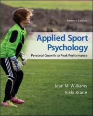 Applied Sport Psychology 7th Edition 9780078022708 0078022703