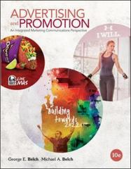 Advertising and Promotion 10th Edition 9780078028977 0078028973