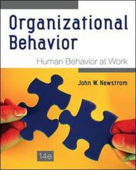 Organizational Behavior 14th Edition 9780078112829 0078112826