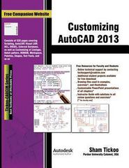 Customizing Autocad 2013 1st Edition 9781936646319 1936646315
