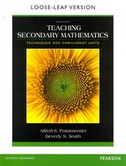 Teaching Secondary Mathematics 9th Edition 9780133783674 0133783677