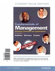 Fundamentals of Management 9th Edition 9780133506211 0133506215