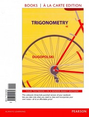 Trigonometry, Books a la Carte Edition 4th Edition 9780321915535 0321915534