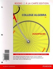 College Algebra, Books a la Carte Edition 6th Edition 9780321919809 0321919807