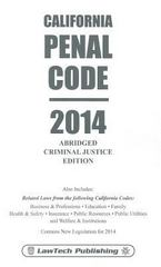 California Penal Code 1st Edition 9781563252143 1563252147