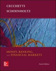 Money, Banking and Financial Markets 4th Edition 9780078021749 007802174X