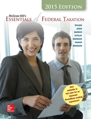 McGraw-Hill's Essentials of Federal Taxation, 2015 Edition 6th Edition 9781259212819 1259212815