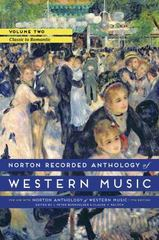 Norton Recorded Anthology of Western Music 7th Edition 9780393936889 0393936880