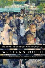 Norton Recorded Anthology of Western Music 7th Edition 9780393936872 0393936872