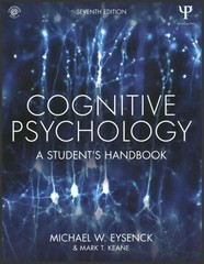 Cognitive Psychology 7th Edition 9781848724167 1848724160