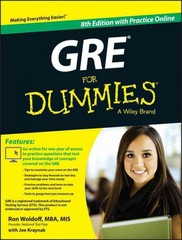 GRE For Dummies 8th Edition 9781118911648 1118911644