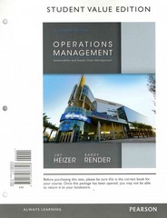 Operations Management, Student Value Edition & Student CD for Operations Management 11th Edition 9780133407983 0133407985