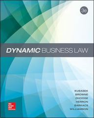 Dynamic Business Law 3rd Edition 9780078023781 0078023785