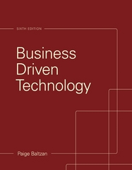 Business Driven Technology 6th Edition 9780073376905 0073376906