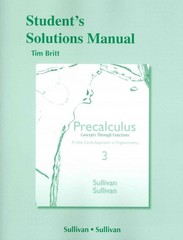 Student's Solutions Manual for Precalculus Concepts Through Functions 3rd Edition 9780321926241 0321926242