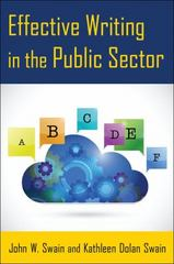 Effective Writing in the Public Sector 1st Edition 9780765641526 0765641526