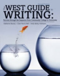 The West Guide to Writing 1st Edition 9781465240156 1465240152