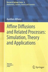 Affine Diffusions and Related Processes 1st Edition 9783319052205 3319052209