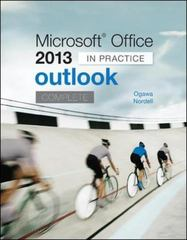 Microsoft Office Outlook 2013 Complete 1st Edition 9780077823931 0077823931