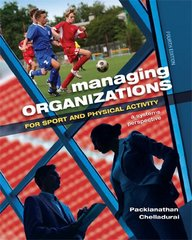 Managing Organizations for Sport and Physical Activity 4th Edition 9781621590149 1621590143
