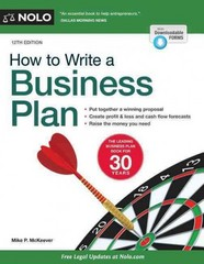 How to Write a Business Plan 12th Edition 9781413320787 1413320783