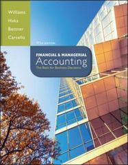 Financial & Managerial Accounting with Connect Plus 17th Edition 9781259183973 1259183971