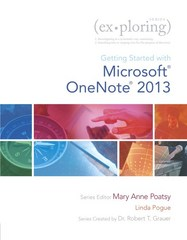 Exploring Getting Started with Microsoft OneNote for Office 2013 1st Edition 9780133434323 013343432X