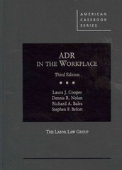 ADR in the Workplace 3rd Edition 9780314195883 0314195882