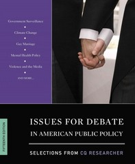 Issues for Debate in American Public Policy 15th Edition 9781483317038 148331703X