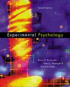 Experimental Psychology 7th Edition 9780534364267 0534364268