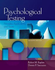 Psychological Testing 7th edition 9780495095552 0495095559