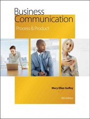 Business Communication 6th edition 9780324578676 0324578679