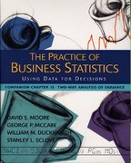 The Practice of Business Statistics Companion Chapter 15: Two-Way Analysis of Variance 1st edition 9780716796244 0716796244