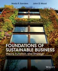 Foundations of Sustainable Business 1st Edition 9781118441046 1118441044
