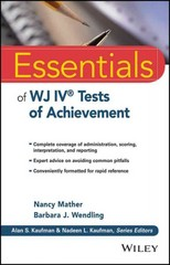 Essentials of WJ IV Tests of Achievement 1st Edition 9781118799109 1118799100