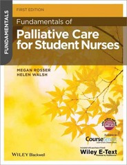 Fundamentals of Palliative Care for Student Nurses 1st Edition 9781118437780 1118437780