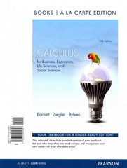 Calculus for Business, Economics, Life Sciences and Social Sciences Books a la Carte Edition Plus NEW MyMathLab with Pearson eText -- Access Card Package 13th Edition 9780321925718 0321925718