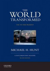 The World Transformed, 1945 to the Present 2nd Edition 9780199371037 0199371032