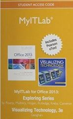MyITLab with Pearson eText -- Access Card -- for Exploring with Visualizing Technology 3rd Edition 9780133881028 0133881024