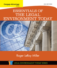 Cengage Advantage Books: Essentials of the Legal Environment Today 5th Edition 9781305446175 1305446178