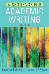 A Sequence for Academic Writing 6th Edition 9780321906816 0321906810