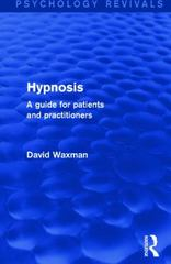 Hypnosis (Psychology Revivals) 1st Edition 9781138787186 1138787183