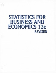 Statistics for Business & Economics, Revised 12th edition 9781305264335 1305264339