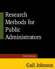 Research Methods for Public Administrators 3rd Edition 9780765637161 0765637162