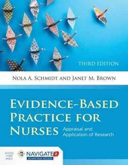 Evidence-Based Practice For Nurses 3rd Edition 9781284053302 128405330X