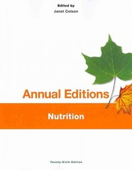 Annual Editions: Nutrition, 26/e 26th Edition 9781259168048 1259168042