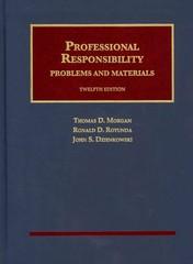 Professional Responsibility 12th Edition 9781609303259 1609303253