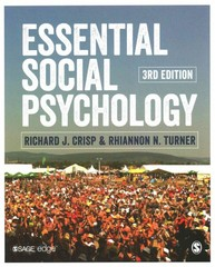 Essential Social Psychology 3rd Edition 9781446270776 1446270777