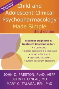 Child and Adolescent Clinical Psychopharmacology Made Simple 3rd Edition 9781626251915 1626251916