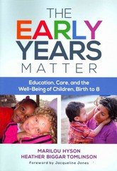The Early Years Matter 1st Edition 9780807755587 0807755583